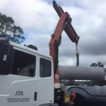 Crane Truck Hire - Concrete Pipe Deliver