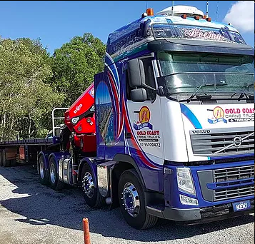 semi crane truck in australia