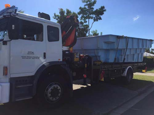 Crane truck hire Brisbane - delivery of timber