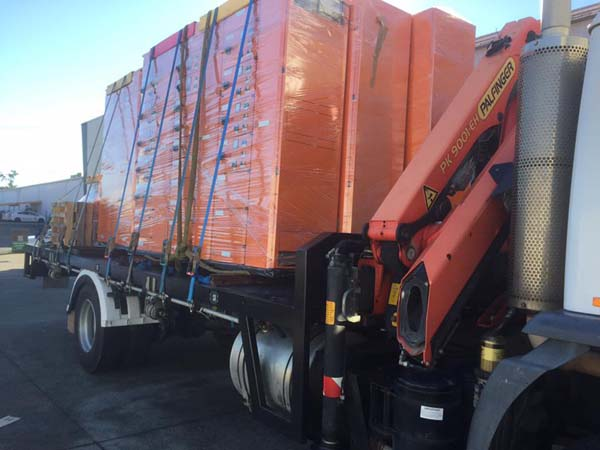 CRANE TRUCK HIRE - DELIVERY OF SWITCHBOARDS TO BRISBANE