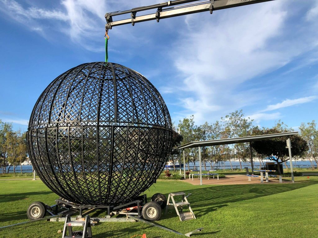 Installing Sphere Ball With Our 8 Tonne Crane Truck