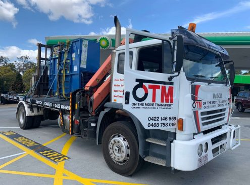 Crane truck hire