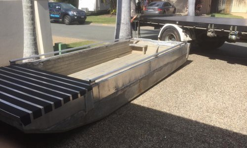 Boat delivery with 8 tonne crane truck in Coomera, Gold Coast