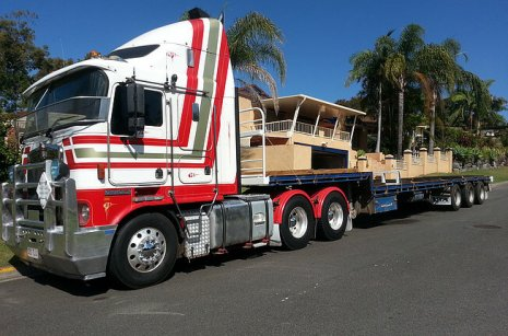 Our semi truck servicing a client in Nerang, Gold Coast