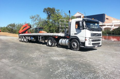 Servicing our cliens in Brisbane with a semi truck