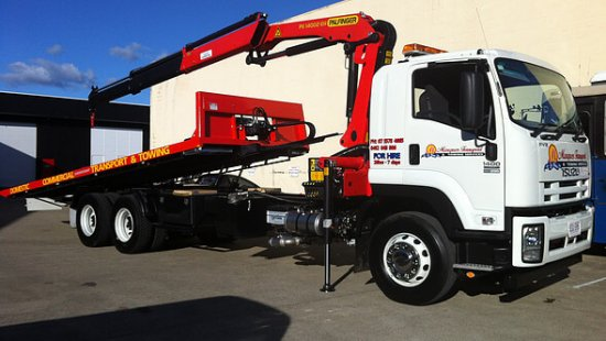 12 tonne crane truck with tilt tray in Arundel, Gold Coast