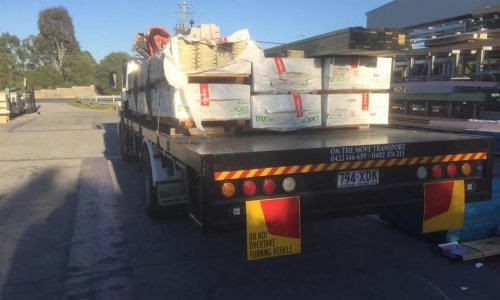 Delivering construction materials with our crane trucks in Pimpama, Gold Coast and Mount Cotton, Brisbane