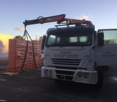 switch boards delivery with crane truck to brisbane