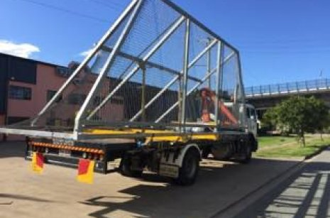 Delivery of Litter Box With Our Crane Trucks - Gold Coast And Brisbane