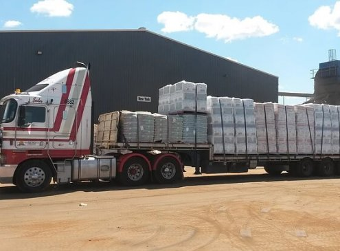 of pallets on our semi truck in Ashmore, Gold Coast